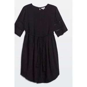 ARITZIA WILFRED SONORE DRESS BLACK S with Belt
